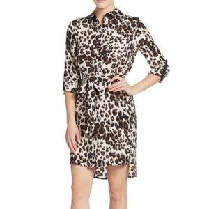 Diane von Furstenberg Prita Leopard Shirt Dress
